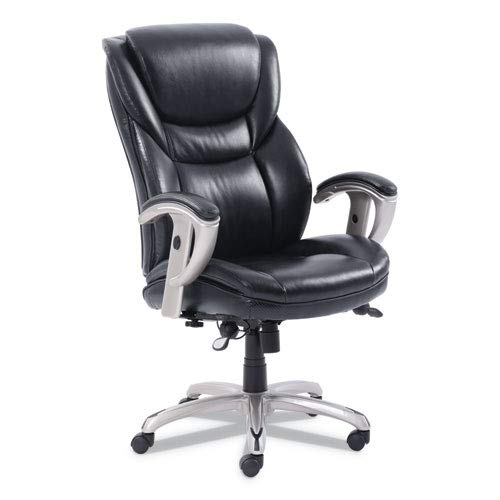 Sertapedic Emerson Executive Task Chair, 22 1/4w x 22d x 22h Seat, Black Leather -