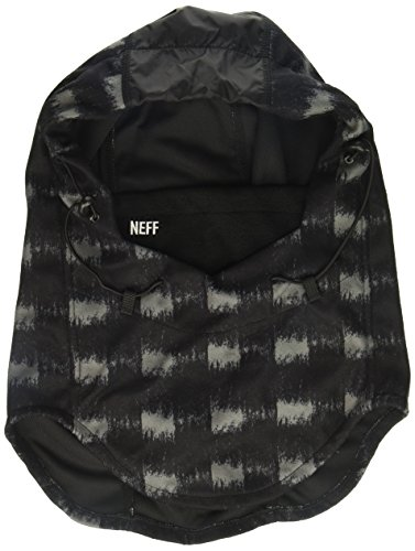 - neff Men's Tech Riding Hood-Snowboard Ski Mask-Winter Facemask, brush plaid, One Size