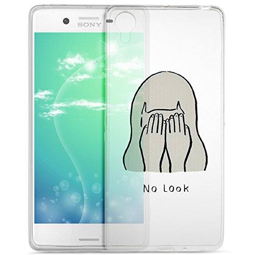 Sony Xperia X Case Sony Xperia X Cover Ikasus Colorful Painted Ultra Transparent Thin Soft Tpu Silicone Rubber Bumper Case Crystal Clear Silicone Case For Sony Xperia X No Look