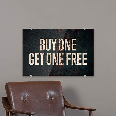 Buy One Get One Free 36x24 CGSignLab Ghost Aged Rust Premium Acrylic Sign