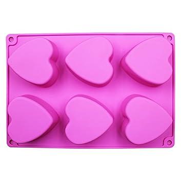 Molde de silicona para jabón hecho a mano, 6 moldes de silicona para tartas de