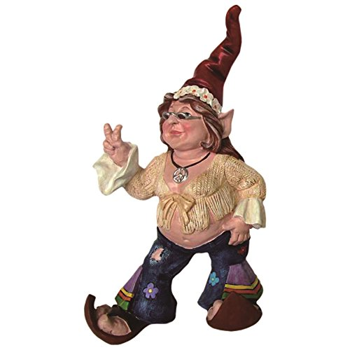 (Nowaday Gnomes The 60's Janice Chick Flower Child Hippie Gnome Home & Garden Gnome Statue 14