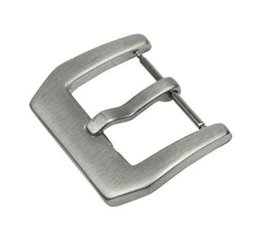 RECHERE Stainless Steel Watch Band Strap Clasp Pin Tang Buckle Brushed Silver 18mm