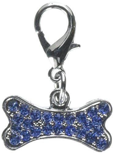Mirage Pet Products Lobster Claw Bone Charm for Pets, Blue ()