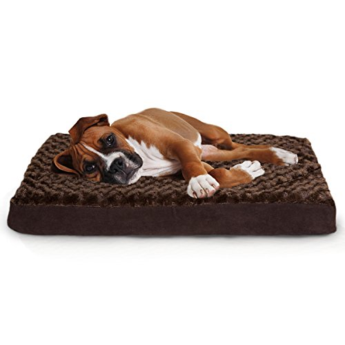 Furhaven Pet Ultra Plush Deluxe Memory Foam Pet Bed, Chocola