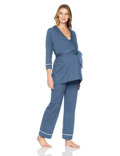e487f2c5e0 Belabumbum Women s Lounge Chic Maternity and Nursing Pajama + Robe Set