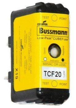 Bussmann TCF20, 600V, 20 Amp (20A), Time Delay Class CF Fuse, Fast Shipping!! by Bussmann