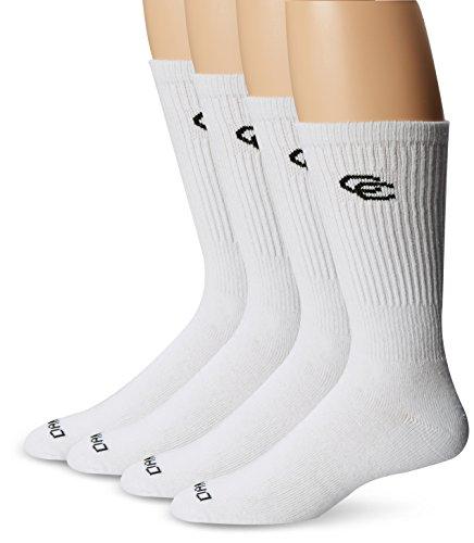 Dan Post Men's Dan Post Cowboy Certified All Around Crew Socks 4 Pack White Socks 10 (Men's Shoe -