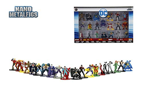 Nano Metalfigs Jada Toys DC Comics Wave 2 Metals Die-Cast Collectible Figures (20 Piece), 1.65