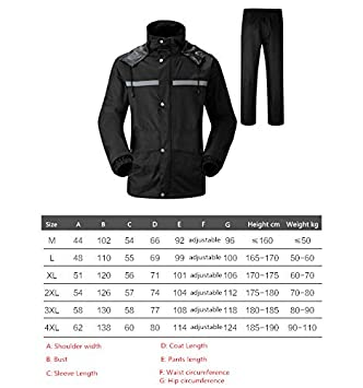 Safety Vest Waterproof Rain Jacket and Pant Reflective Safety Raincoat Hooded Poncho Suit Motorcycle Rain Coat Pants Set Protective Gear for Work Outdoor Activity Breathable Mesh Vest