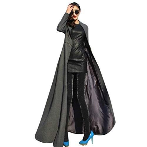 Invernali Collo Trench Fashion Lunga Coreana Donna Fit Plus Eleganti Slim Lunga Cappotti Giubotto Outerwear Prodotto Estilo Especial Cappotti Grau Invernali Manica CTqt8w
