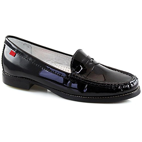 Marc Joseph NY Women's Fashion Shoes East Village Black Patent Leather Penny Loafer Size 6 (More Colors & Sizes Available)