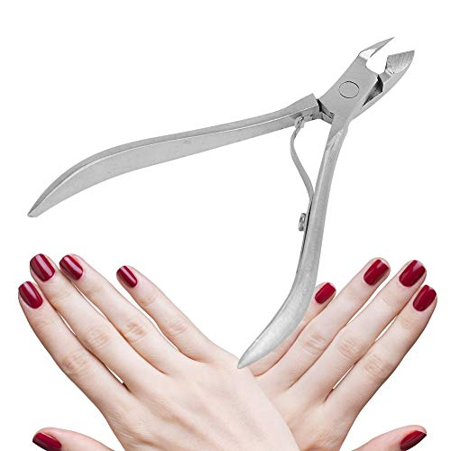 Cimenn Silver Stainless Steel Nail Dead Skin Removal Clipper Cuticle Scissors Manicure Pedicure Tool