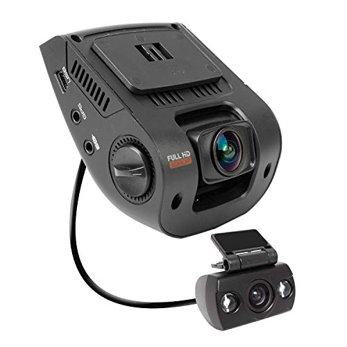 """Rexing V1P 2.4"""" LCD FHD 1080p 170 Degree Wide Angle Dual Channel Dashboard Camera Recorder Car Dash Cam with Rear Camera, G-Sensor, WDR, Loop Recording"""
