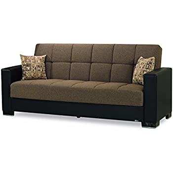 Amazon.com: Casamode Armada Sofa Brown/Brown Chenille ...