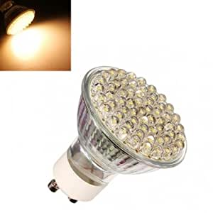 GU10 3W 250LM 60 LED Warm White Spot Light Lamp Bulb 220V