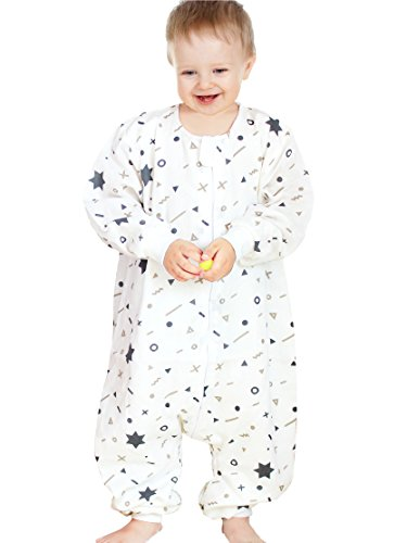 SINCERE Muslin Original 100% Cotton Sleeping Sack Bag Baby Wearable Blankets Long Sleeves(SWL/Star/M) by SINCERE