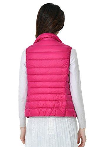 10 Santimon Soporte Rosa Ligero Las Colores Roja Mujeres Packable Down Disponibles Del Chaqueta De Calentar Coat Abajo Collar Chaleco r6PRxrHnq