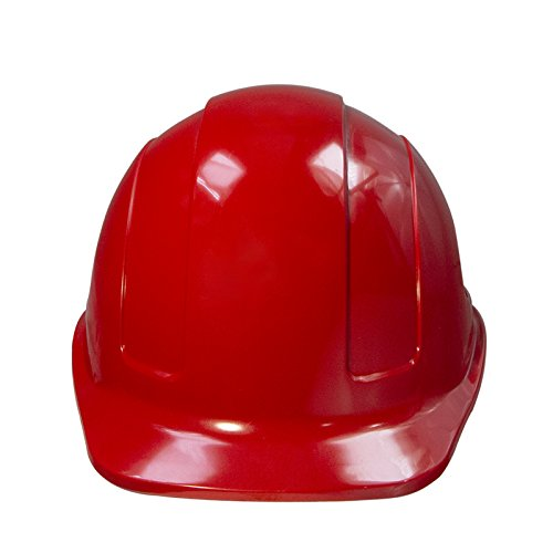 PPE By JORESTECH - HDPE Cap Style Hard Hat Helmet w/Adjustable Ratchet Suspension For Work, Home, and General Headwear Protection ANSI Z89.1-14 Compliant (Red) by JORESTECH