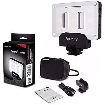 Aputure AL-M9 on Camera Daylight Mini LED Light Pocket Sized LED Fill Light 5500K with 9pcs SMD Light Beads for DSLRs