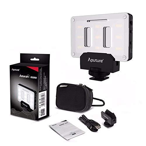 (Aputure AL-M9 on Camera Daylight Mini LED Light Pocket Sized LED Fill Light 5500K with 9pcs SMD Light Beads for)