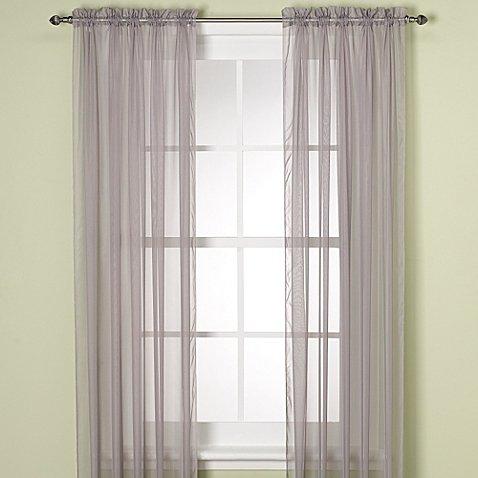 (GorgeousHomeLinenDifferent Solid Colors 2 PC Rod Pocket Sheer Window Curtains Treatment Drape Voile Elegant Panels 55