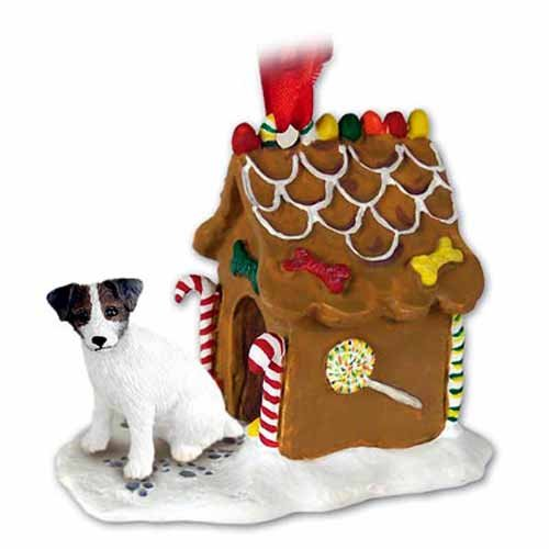 Parson Russell Terrier Figurine (Jack Russell Parson Terrier Gingerbread House Ornament)