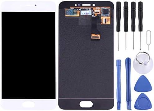 携帯電話の液晶画面 タッチパネル+ MeizuのPro 6の液晶画面用(ブラック) (Color : 白)