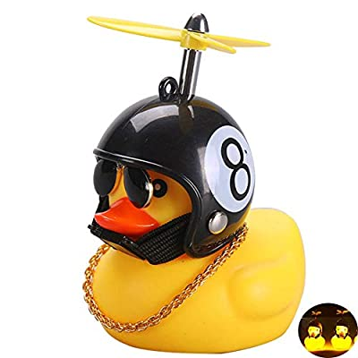 BYMYWAY Car Decoration Rubber Duck Helmet Toys with LED Light for Outdoor: Toys & Games