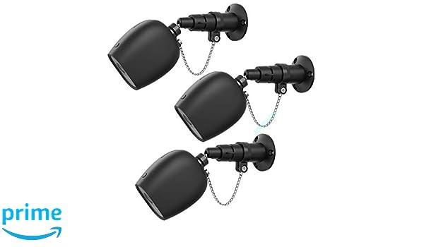 Negro, 3 Paquete Soporte de Montaje en Pared BECEMURU Soporte de Seguridad antirrobo con Cadena Protector de Cubierta para Montaje Exterior para c/ámara Arlo Pro//Pro 2