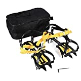 Crampons Traction Device Cleats Mountaineering Anti Slip Crampons Ski Belt for Ice Snow Safe Protect Shoes,1 Pairs