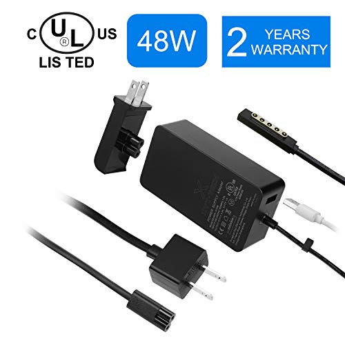 UL ListedSurface Pro 1 Pro 2 Surface 2 Charger 48W 12V 3.6APower Supply for Microsoft Surface Pro1 Surface Pro 2 Surface RT & RT2 with 5V 1A USB Charging Port (Surface 2 Pro Power Supply)