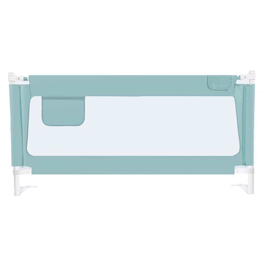 LHA ベッドガードフェンス ベビーベッドフェンス粉々になることのないフェンス垂直持ち上がる高さ90cmベッドサイドテーブルを恐れない-150cm、180cm、200cm (Color : Blue, Size : L-200cm) L-200cm Blue B07SXBWJ7T