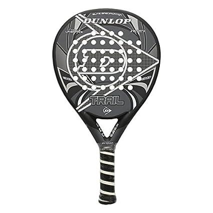 Dunlop Trail - Pala de pádel, color gris/negro, 38 mm
