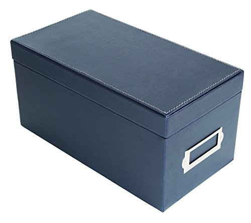 (JackCubeDesign CD Case Storage Box Case DVD Organizer Holder with 50 Cases(Navy, 5.8 x 10.9 x 5.4 inches)-MK226A)