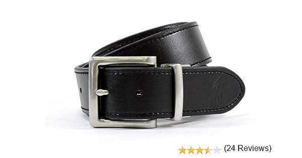Polo Ralph Lauren Hombre Cinturón de cuero reversible, color negro ...