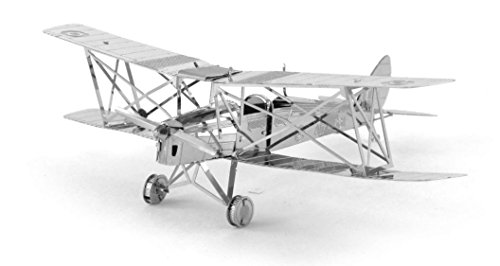 Fascinations Metal Earth De Haviland Tiger Moth Biplane 3D Metal Model Kit