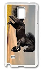 Adorable Black stallion Hard Case Protective Shell Cell Phone HTC One M8 - PC White