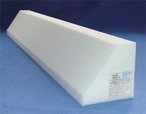 Bed Safety Guard Rail 42 Inch - One Piece Design (Bed Rail Wedge Pads)