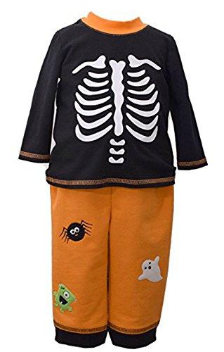Bonnie Jean Kids Black Skeleton Knit Pant Set (6-9 -