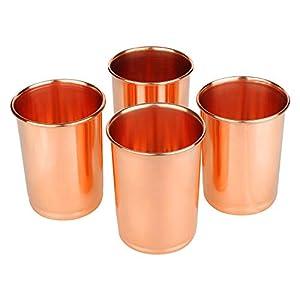 AVS STORE ® Drinking Copper Glass 100% Pure Copper, Tumbler, Serveware & Drinkware, Set of 4