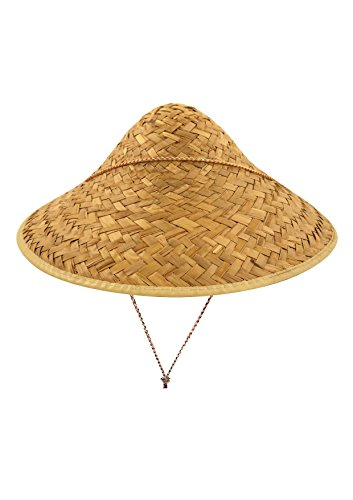 Rimi Hanger Adult Coolie Straw Hat With Edge Binding Mens Stag Do Hen Night Party Accessory One Size