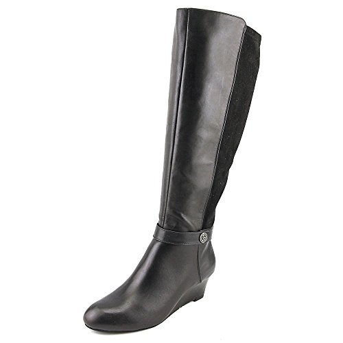 Giani Fashion Leather Womens Knee Dafnee Bernini Round Toe Black Boots High FqywSHqO