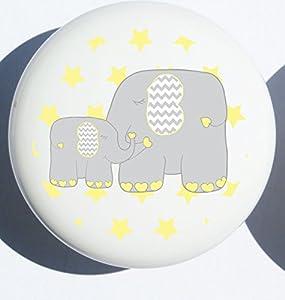 Amazon.com: Single Yellow Elephant Drawer Pull Knob / Mother and ...