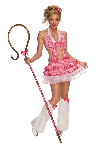 Little Bow Peep Costume Women (Secret Wishes Women's Playboy Shepherdess Costume, Red, X-Small)