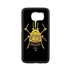 Samsung Galaxy S6 Cell Phone Case White Besouro Manganga Capoeira ZJW Hard Clear Phone Cases