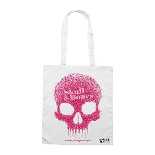 Borsa Skull & Bones - Bianca - Mush by Mush Dress Your Style
