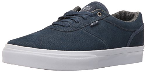 C1RCA Men's Gravette Durable Cushioned Skate Skateboarding Shoe, Denim/White, 10 M US