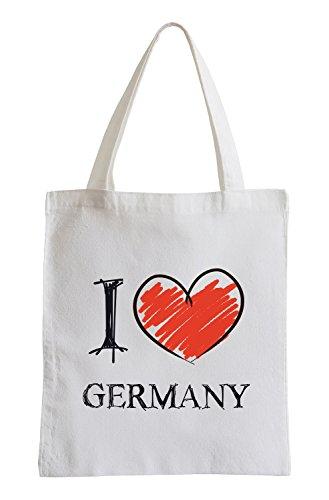 Io amo la Germania Fun sacchetto di iuta