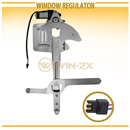 WIN-2X New 1pc Front Driver Left Side Power Window Regulator With Motor Assembly Fit 95-05 Chevy S10 Blazer/GMC S15 Jimmy 94-04 S-10 Pickup/Sonoma 96-00 Isuzu Hombre 96-01 Oldsmobile Bravada